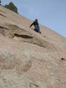 Rock Climbing Photo: J. Bryan leading Illusion Chain