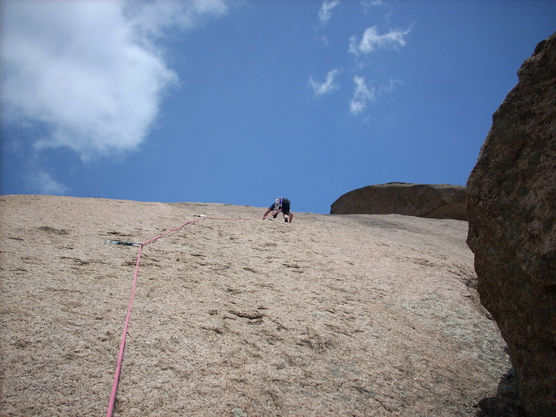 Rock Climbing Photo: J. Bryan leading 5.6.