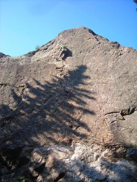 Rock Climbing Photo: Ashley on lead, feet don't fail me now