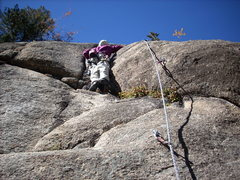 Rock Climbing Photo: Shad at crux.