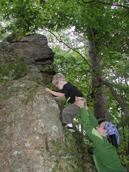 Rock Climbing Photo: My Son bouldering at Gov. Dodge