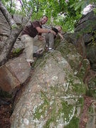 Rock Climbing Photo: My Son toppin' out at Gov. Dodge