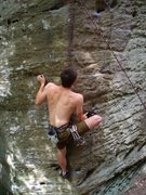 Rock Climbing Photo: Moving through the opening moves.