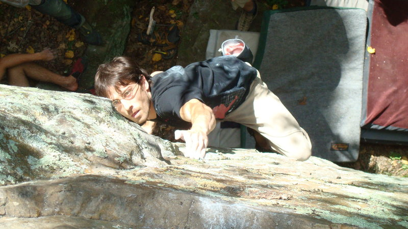 Rock Climbing Photo: Remo on FA