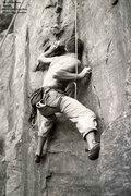 Rock Climbing Photo: Cranking hard