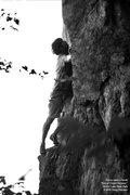 "Rock Climbing Photo: Travis cops a ""rest"""