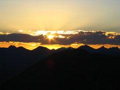 Rock Climbing Photo: sunset