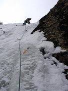 Rock Climbing Photo: First pitch of The Brittle Stiffie.