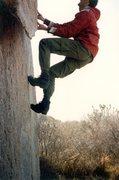 Rock Climbing Photo: Diamond Dogs in Fabiano's, ca. 1985...  Julie Laza...