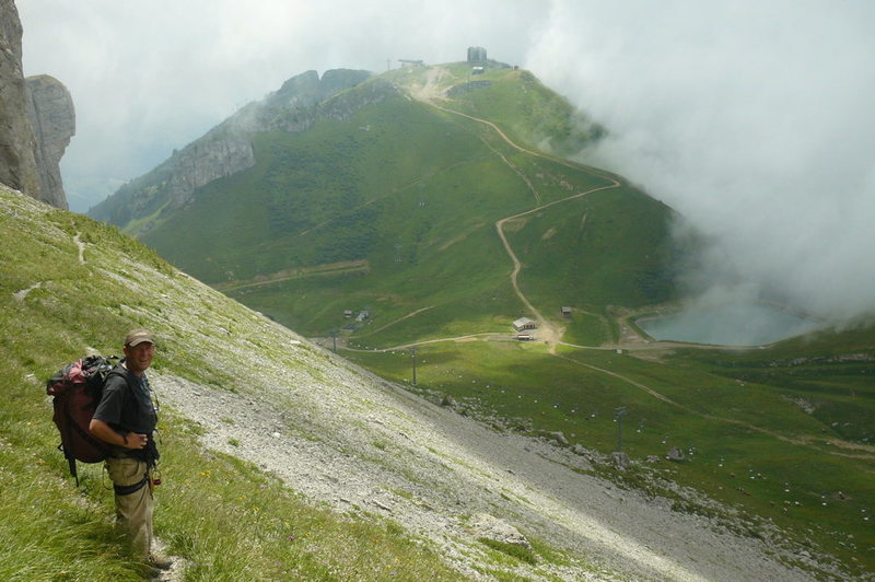 Rock Climbing Photo: The long haul back to the gondola from the Tour d'...