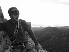 Rock Climbing Photo: At the top of Garfield Goes to Washington (5.8 3-p...