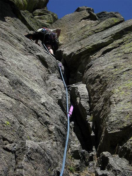 Rock Climbing Photo: P4 Durance