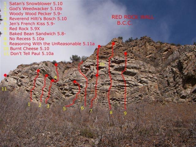 Rock Climbing Photo: updated topo 09/13/08