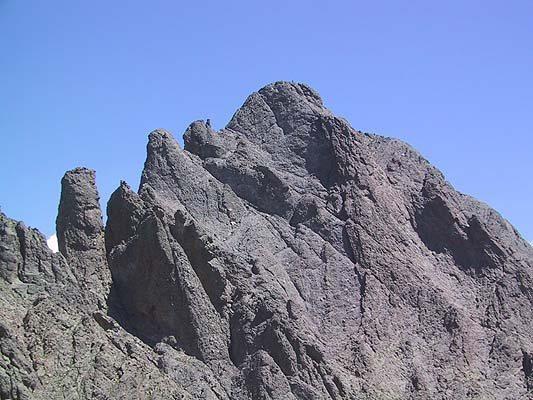 Crestone Needle from below Crestone Peak.
