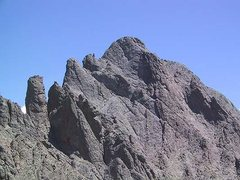 Rock Climbing Photo: Crestone Needle from below Crestone Peak.