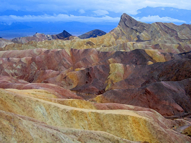 After photoshop, Zabriskie Point, Death Valley (2005).