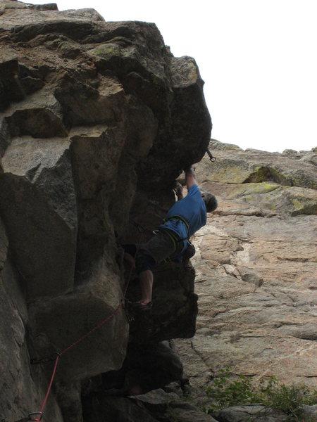 Rock Climbing Photo: Reaching the lip.