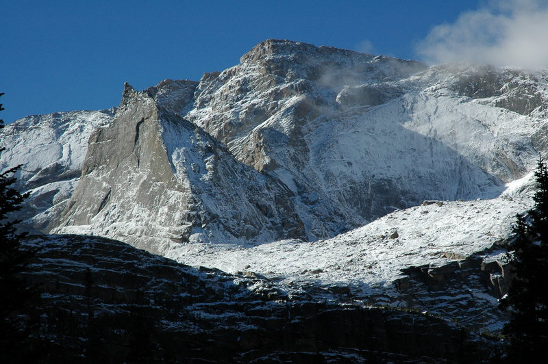 Rock Climbing Photo: September snow in Glacier Gorge.  Spearhead and NW...
