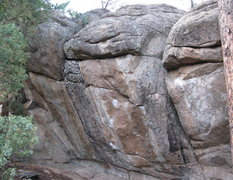 Rock Climbing Photo: The overhanging crack on the right.