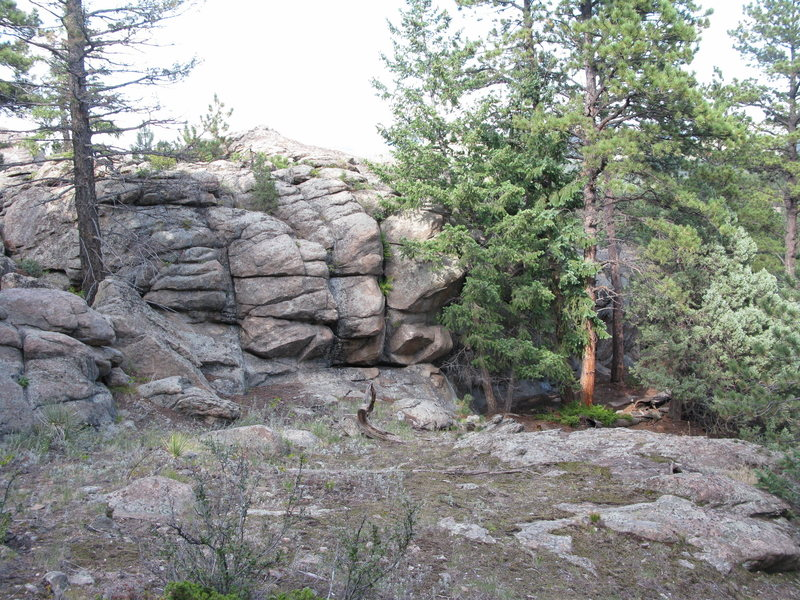 Rock Climbing Photo: The uphill side of the crag (not really any proble...