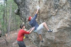 Rock Climbing Photo: Kyle Davis hits the first move