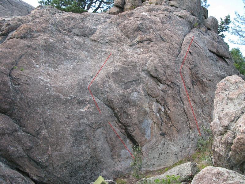 Rock Climbing Photo: the scab is the problem on the right.