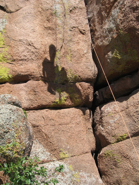 Rock Climbing Photo: Apparently Matt's shadow was too excited to climb ...