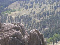 Rock Climbing Photo: Fantasy Ridge climbers 9/13/8 on a one fine day.