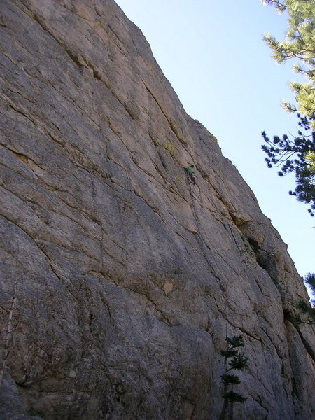 Rock Climbing Photo: Linking it in one pitch.