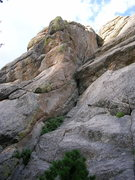 Rock Climbing Photo: Arete across the minivalley.