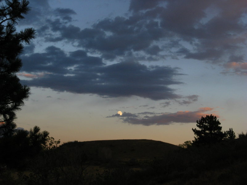 Rock Climbing Photo: moon