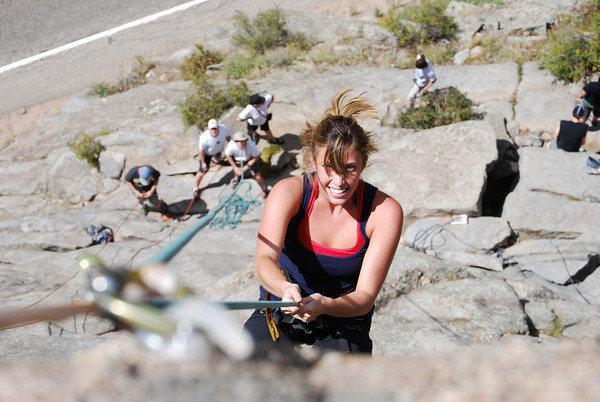 Rock Climbing Photo: halley and group at boulderado