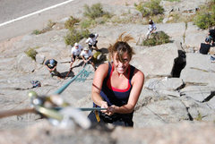 Rock Climbing Photo: halley and group at boulderado