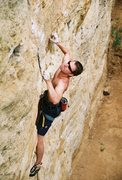 Rock Climbing Photo: Jonathan, sept 08. You can almost see the lactic a...