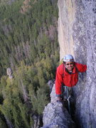 Rock Climbing Photo: My buddy Art showing how it feels to have gone thr...