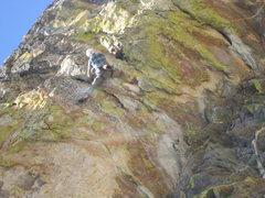 Rock Climbing Photo: Jesse Shultz flashing Gettin off the Porch 12-.