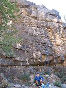 Rock Climbing Photo: Ian getting ready at the base of Warm-up #1. A fun...