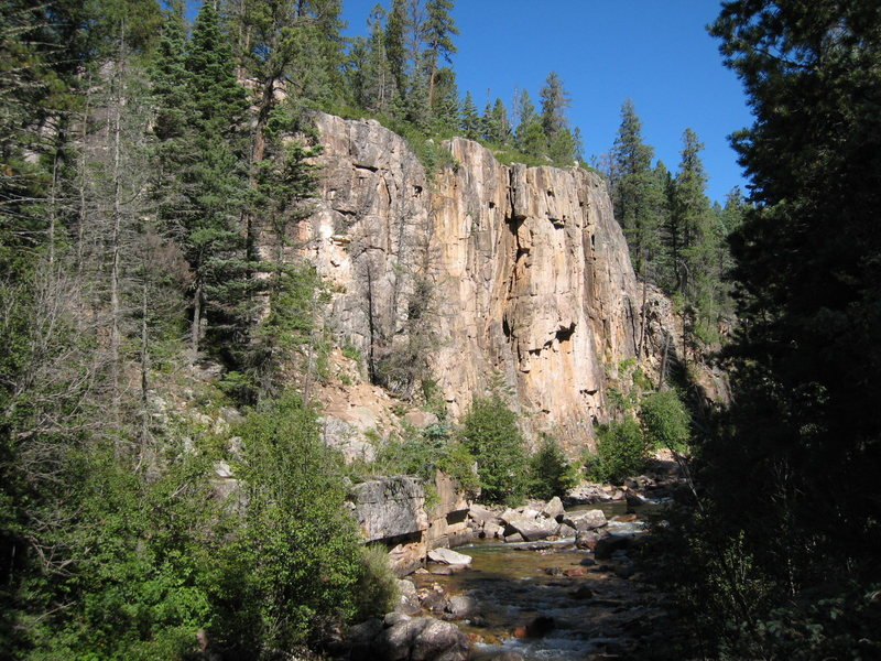 The main cliff on the West side of the canyon.