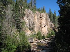 Rock Climbing Photo: The main cliff on the West side of the canyon.