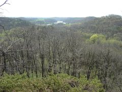 Rock Climbing Photo: Twin Valley Lake from the top of the Qual Wall, Ap...