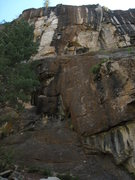 Rock Climbing Photo: Dirt Track starts in the center of the picture and...