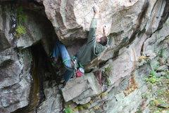 Rock Climbing Photo: Chris in the crux