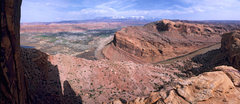 Rock Climbing Photo: Looking out over Moab and the Colorado River from ...