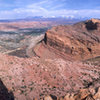 Looking out over Moab and the Colorado River from the summit of the Point of Moab.<br> <br> What a fantastic place!