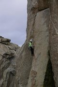 Rock Climbing Photo: Just before the crux.  Photo by Chris Hash, Sept. ...