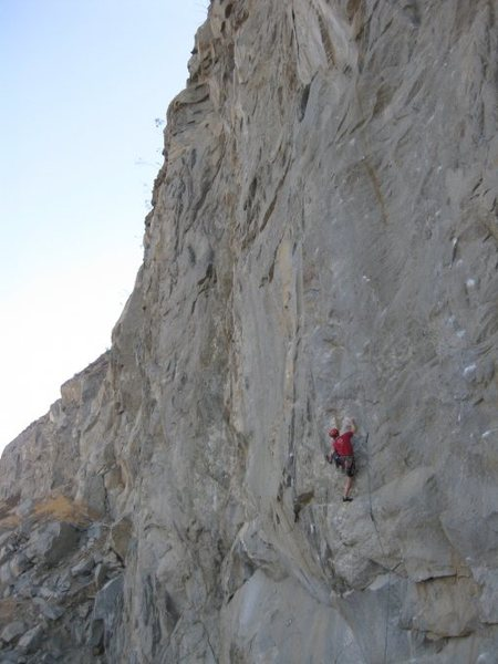 Rock Climbing Photo: Stein just after the starting bulge on Control Fre...
