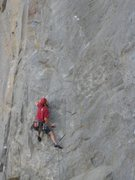 Rock Climbing Photo: Stein gets ready for the first crux on Control Fre...