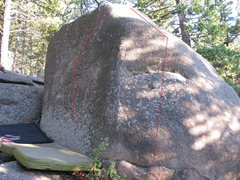 Rock Climbing Photo: Both problems are visible.