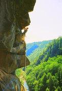 Rock Climbing Photo: Punk Wave 10a. Tallulah Gorge
