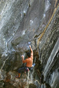Rock Climbing Photo: nick at the top of the bouldering section and head...